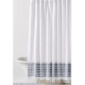 Anthropologie Tasseled Raya Shower Curtain NEW